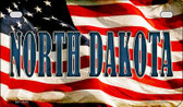 North Dakota US Flag Wholesale Novelty Motorcycle Plate MP-3645