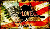 Alaska Love & Wings Wholesale Novelty Motorcycle Plate MP-8588