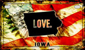 Iowa Love & Wings Wholesale Novelty Motorcycle Plate MP-8601