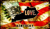 Kentucky Love & Wings Wholesale Novelty Motorcycle Plate MP-8603