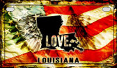 Louisiana Love & Wings Wholesale Novelty Motorcycle Plate MP-8604