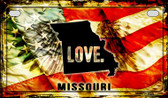 Missouri Love & Wings Wholesale Novelty Motorcycle Plate MP-8611