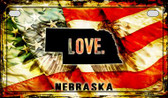 Nebraska Love & Wings Wholesale Novelty Motorcycle Plate MP-8613