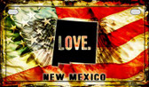 New Mexico Love & Wings Wholesale Novelty Motorcycle Plate MP-8617