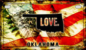 Oklahoma Love & Wings Wholesale Novelty Motorcycle Plate MP-8622