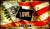 Oregon Love & Wings Wholesale Novelty Motorcycle Plate MP-8623