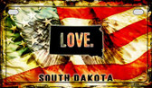 South Dakota Love & Wings Wholesale Novelty Motorcycle Plate MP-8627