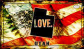 Utah Love & Wings Wholesale Novelty Motorcycle Plate MP-8630