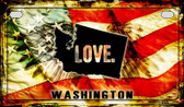 Washington Love & Wings Wholesale Novelty Motorcycle Plate MP-8633