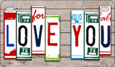 Love You Plate Art Wholesale Novelty Motorcycle Plate MP-7844
