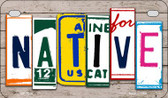 Native Plate Art Wholesale Novelty Motorcycle Plate MP-7849