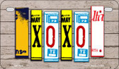 XOXO Plate Art Wholesale Novelty Motorcycle Plate MP-7900