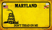 Maryland Do Not Tread Wholesale Novelty Motorcycle Plate MP-8852