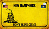 New Hampshire Do Not Tread Wholesale Novelty Motorcycle Plate MP-8861