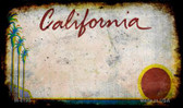 California Rusty Blank Background Wholesale Aluminum Magnet M-8198