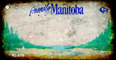 Manitoba Rusty Blank Background Wholesale Aluminum Key Chain KC-8178