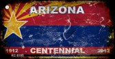 Arizona Centennial Rusty Blank Background Wholesale Aluminum Key Chain KC-8190