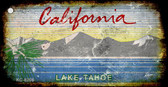 California Lake Tahoe Rusty Blank Background Wholesale Aluminum Key Chain KC-8208