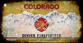 Colorado Denver Firefighter Rusty Blank Background Wholesale Aluminum Key Chain KC-8213