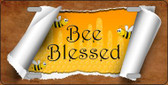 Bee Blessed Scroll Wholesale Novelty License Plate LP-11724