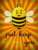 Just Keep Beeing You Wholesale Metal Novelty Parking Sign P-1746