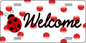 Welcome Ladybug Wholesale Novelty License Plate LP-11726