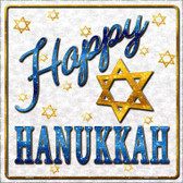 Happy Hanukkah Wholesale Novelty Square Sign SQ-316