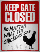 Keep Gate Closed Wholesale Metal Novelty Parking Sign P-1758