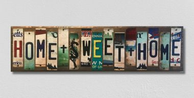 Home Sweet Home License Plate Strip Wholesale Novelty Wood Sign WS-021