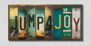 Jump 4 Joy License Plate Strip Wholesale Novelty Wood Sign WS-046