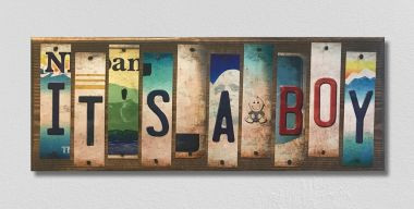 It's A Boy License Plate Strip Wholesale Novelty Wood Sign WS-056