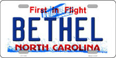 Bethel North Carolina Wholesale State License Plate LP-11745