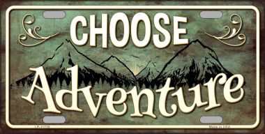 Choose Adventure Wholesale Novelty License Plate LP-11738