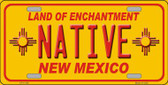 Native New Mexico Yellow Wholesale State License Plate LP-11735