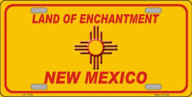 New Mexico Blank Yellow Wholesale State License Plate LP-11736