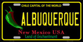 Albuquerque New Mexico Black Wholesale State License Plate LP-11754