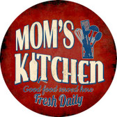Mom's Kitchen Wholesale Novelty Metal Circular Sign C-849