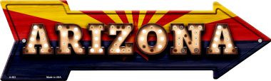 Arizona Bulb Lettering With State Flag Wholesale Novelty Arrows A-583