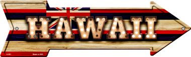 Hawaii Bulb Lettering With State Flag Wholesale Novelty Arrows A-591