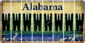 Alabama W Cut License Plate Strips (Set of 8) LPS-AL1-023