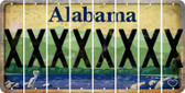 Alabama X Cut License Plate Strips (Set of 8) LPS-AL1-024
