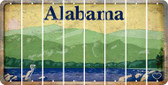 Alabama BLANK Cut License Plate Strips (Set of 8) LPS-AL1-037