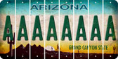 Arizona A Cut License Plate Strips (Set of 8) LPS-AZ1-001