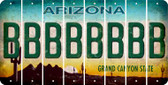 Arizona B Cut License Plate Strips (Set of 8) LPS-AZ1-002