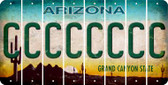 Arizona C Cut License Plate Strips (Set of 8) LPS-AZ1-003