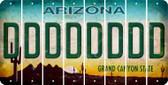 Arizona D Cut License Plate Strips (Set of 8) LPS-AZ1-004