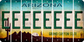 Arizona E Cut License Plate Strips (Set of 8) LPS-AZ1-005