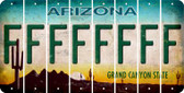 Arizona F Cut License Plate Strips (Set of 8) LPS-AZ1-006
