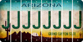 Arizona J Cut License Plate Strips (Set of 8) LPS-AZ1-010