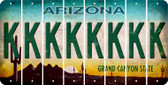 Arizona K Cut License Plate Strips (Set of 8) LPS-AZ1-011
